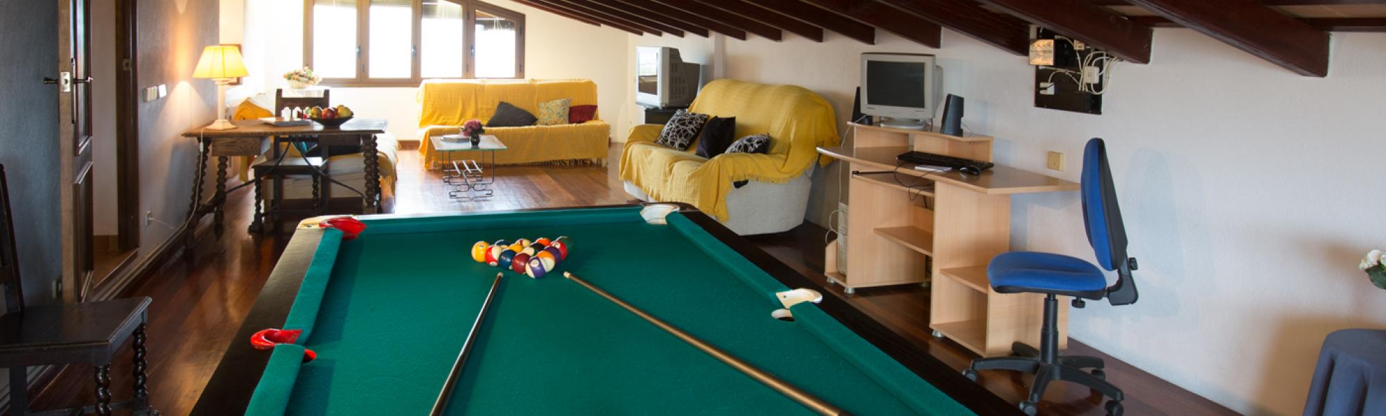 Chill out area with billiard on the second floor